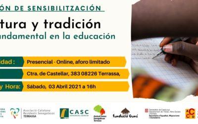 Sesión de sensibilización, tradición y cultura. lo fundamental en la educación